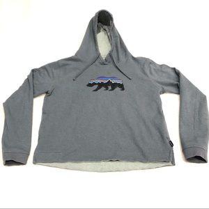Patagonia Grey Bear Logo Sweatshirt Hoodie